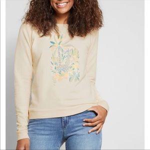 ModCloth fervor sweatshirt GIRAFFE floral NWOT